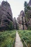Adrspach teplice skały Fotografia Royalty Free