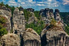 Adrspach-Teplice skały w czechu Obrazy Royalty Free