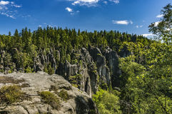Adrspach-Teplicefelsen, Tschechische Republik Stockfoto