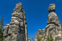 Adrspach-Teplicefelsen, Tschechische Republik Lizenzfreie Stockfotografie
