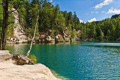 Adrspach, Tschechische Republik Adrspasske Skaly, felsige Stadtnationalpark Lizenzfreie Stockfotografie