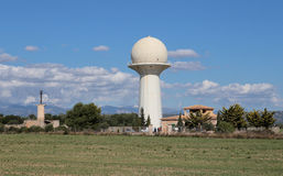 ADS air flight system radar tower. ADS tower radar near palma de mallorca´s airport, in the spanish island of mallorca. Its a surveillance technology in which Stock Images