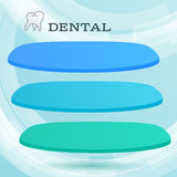 Ads dentist toothpaste leaflet Royalty Free Stock Photo
