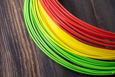 ADS-Plastik für Drucker 3D lizenzfreies stockbild