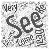 Adsense is for Everyone word cloud concept vector background. Text Royalty Free Stock Photography