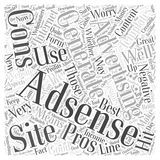 Adsense Pros and Cons word cloud concept vector background Stock Photo