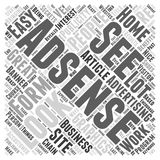 Adsense secrets are exposed home based business secrets revealed by adsenselover.com word cloud concept  background Stock Image