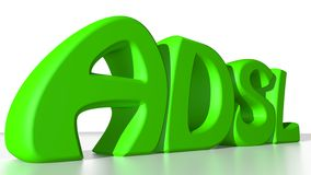 ADSL Green Royalty Free Stock Photo