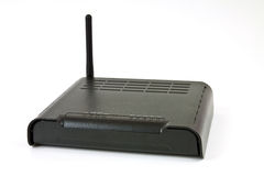 ADSL modem. Desktop Home ADSL modem on a white background Stock Photo