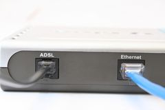 ADSL-Modem Stockfoto