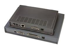 ADSL modem på en vit royaltyfri fotografi