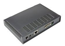 ADSL modem på en vit royaltyfria foton