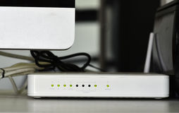 Adsl wifi router modem Royalty Free Stock Photography