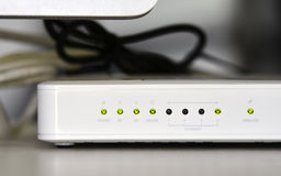 ADSL-wifi Routermodem Stockfoto