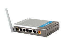 ADSL Wireless Router. Internet access gateway, ADSL router Stock Photos
