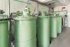 Adsorption sand filtration system. Stock Image
