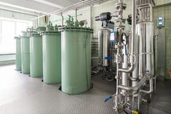 Adsorption sand filtration system. Stock Photo