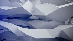 Adstract 3d geometric shapes in motion