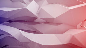 Adstract 3d geometrische vormen in motie stock illustratie
