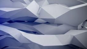 Adstract 3d geometrische vormen in motie vector illustratie