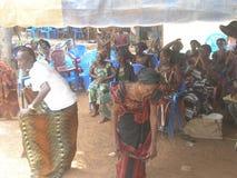 Aduana africana del akan en país Foto de archivo