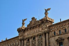 Aduana Building in Barcelona Royalty Free Stock Images