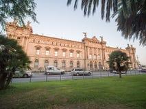 Aduana de Barcelona, vieja construcción de las aduanas diseñada por Sagnier i Villavecchia, 1902 en estilo neoclásico en Vell por fotos de archivo libres de regalías