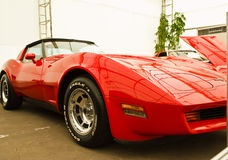 Aduana de Chevrolet Corvette, coches de la vendimia en d Imagen de archivo