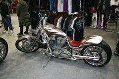 Aduana del gris del sportster 883 de la motocicleta Imágenes de archivo libres de regalías