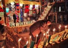 Aduana fúnebre del budismo en China Imagenes de archivo