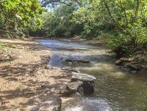 Aduana-Fluss an der Aduana-Stadt, Managua Lizenzfreie Stockfotos