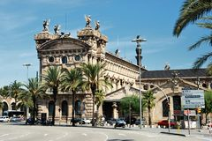 Aduana-Gebäude in Barcelona Stockfotos