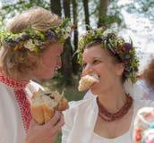 Aduana tradicional de la boda Fotos de archivo