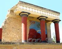 Aduanas antiguo de Knossos, sitio del patrimonio mundial de la UNESCO en la isla de Creta Imagenes de archivo