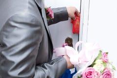 Aduanas chinas de la boda Imagenes de archivo