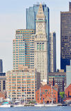 Aduanas de Boston en districto financiero Imágenes de archivo libres de regalías