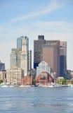 Aduanas de Boston en districto financiero Fotos de archivo