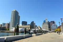 Aduanas de Boston en districto financiero Fotos de archivo libres de regalías
