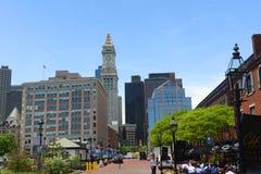 Aduanas de Boston en districto financiero Imagen de archivo