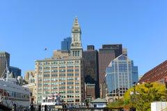 Aduanas de Boston en el distrito financiero, los E.E.U.U. Foto de archivo libre de regalías