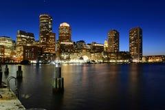 Aduanas de Boston en la noche, los E.E.U.U. Fotos de archivo