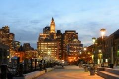Aduanas de Boston en la noche, los E.E.U.U. Fotos de archivo libres de regalías
