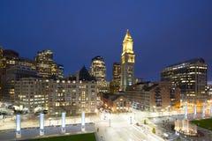 Aduanas de Boston en la noche, los E.E.U.U. Foto de archivo libre de regalías