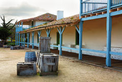 Aduanas de la bahía de Monterey Imágenes de archivo libres de regalías