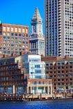 Aduanas de la torre de reloj de Boston del puerto Fotografía de archivo