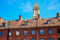 Aduanas de la torre de reloj de Boston Massachusetts Imagen de archivo libre de regalías