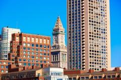 Aduanas de la torre de reloj de Boston Massachusetts Fotografía de archivo libre de regalías
