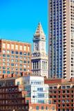 Aduanas de la torre de reloj de Boston Massachusetts Imagen de archivo