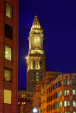 Aduanas de la torre de reloj de Boston Massachusetts Fotos de archivo libres de regalías