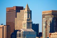Aduanas de la torre de reloj de Boston Massachusetts Imagenes de archivo